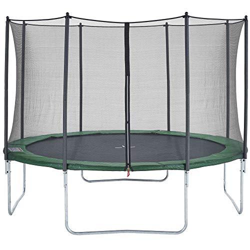 CZON SPORTS Gartentrampolin Ø430 cm mit Sicherheitsnetz, grün|trampolin|trampolin outdoor -