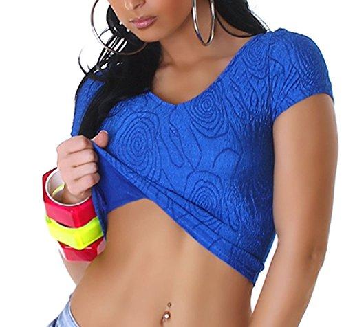 Sportliches Damen Freizeittop, bauchfreies Top und in vielen Trendfarben (34-38) Blue