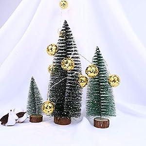10er LED Lichterkette DIY Goldene Kugel Anhänger, Dapei Kupferdraht Lichterketten 1.5M Länge LED Lichterketten Batteriebetriebene Warmweiß String Licht für Weihnachten Party Innen und Außen Deko