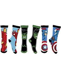 Chaussette AVENGERS marvel Hulk Captain america Iron man * 68% coton 18% polyester 12% polyamide 2% élasthanne * NEUF model Aléatoire * de 27/30 a 35/36 *