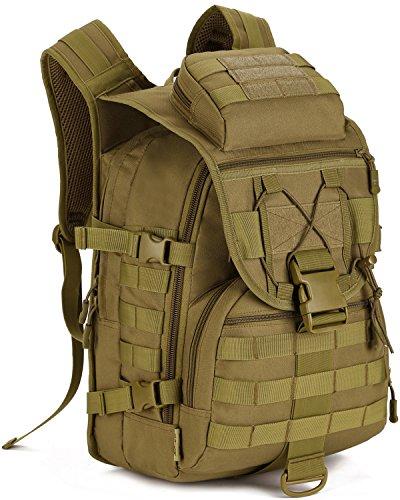 DCCN 40L Taktischer Rucksack Tactical Rucksack Militär Rucksack Wanderrucksack mit Regenhülle (Schulter Riemen Ergonomische)