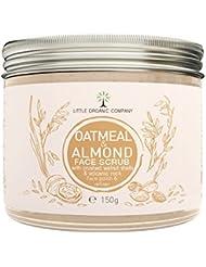 Oatmeal & Almond Face Scrub with crushed Walnut Shells - Organic, 100% Natural, Vegan, Eco Friendly