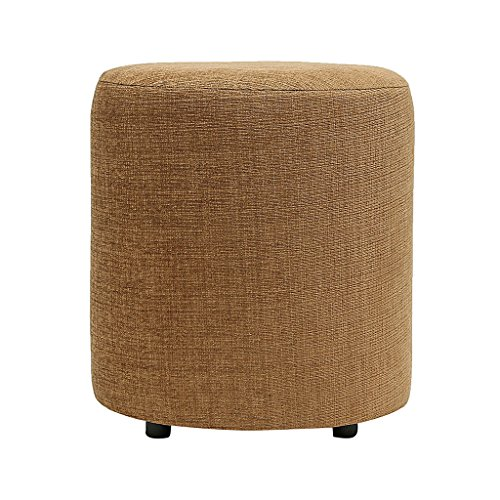SIWA Style Barrel Round Pouffe(15 Diameter, 17 height,Coffee Brown,30469)