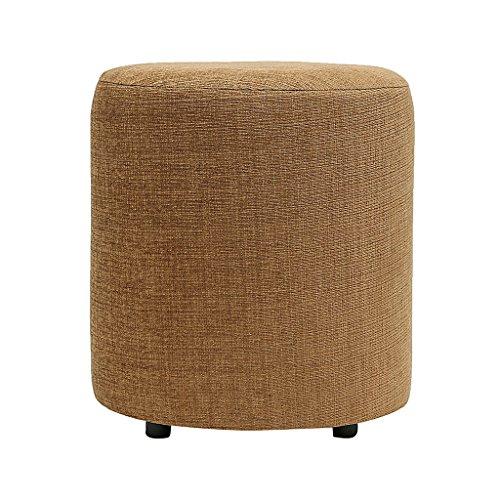 SIWA Style Barrel Round Pouffe(15 Diameter, 17 height,Coffee Brown,30469)