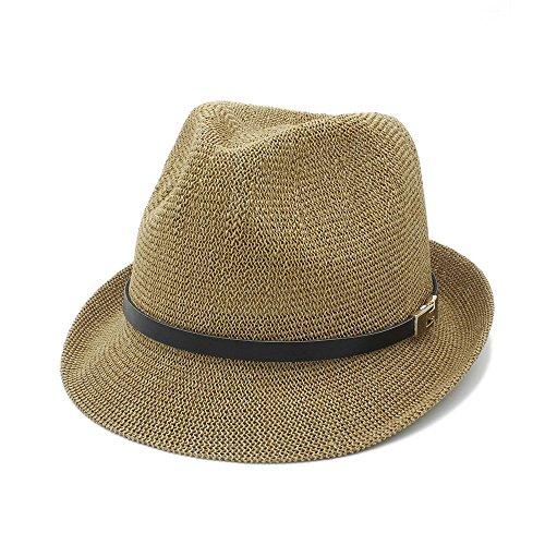 ehm zu tragen Sommer Frauen Männer Sonnenhut für Gentleman Brief Papa Boater Fedora Hüte Papa Flache Homburg Strand Hut Panama Kappe ()