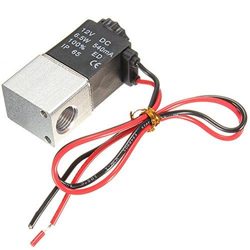 Preisvergleich Produktbild Woopower 1 / 10, 2 cm DC 12 V 2 Wege Normalerweise Geschlossen aus eloxiertem Aluminium Elektrische Magnetventil Air Ventil,  WIC 2 Ack Serie 2-Wege-Normalerweise Geschlossen Magnetventil