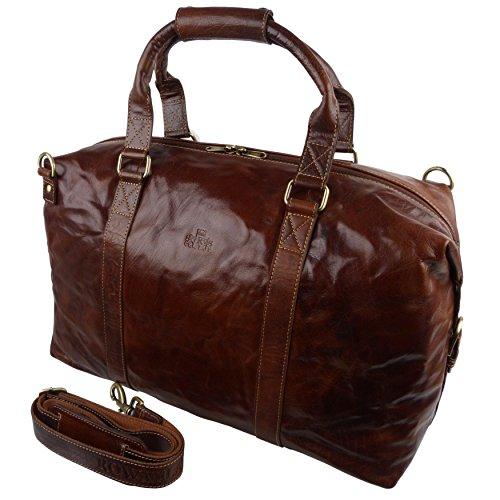 Pour homme Grand sac fourre-tout de voyage en cuir de buffle Par Rowallan de l'Écosse Collection Boston Bronco;