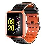 TPulling Mode TF2 Herzfrequenz Blutdruck Intelligente Uhr Smartwatch Armbanduhr Smart Watch Fitness Tracker GPS Bluetooth Activity SmartWatch (Orange)