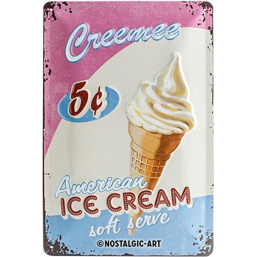 Nostalgic-Art 22145 USA - Ice Cream, Blechschild 20x30 cm