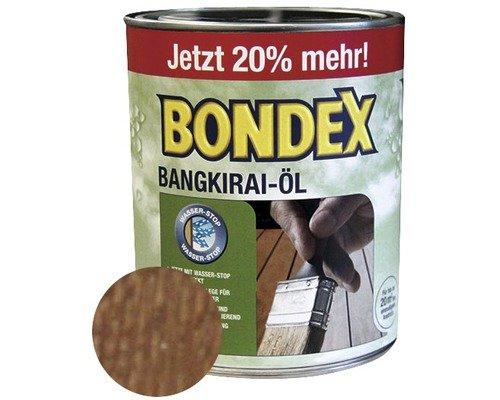 Preisvergleich Produktbild BONDEX Bangkirai-Öl 900 ml (20 % Gratis!), Pflege für Gartenmöbel, Terassendielen aus Bangkiraiholz
