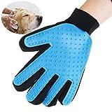 UEETEK DeShedding et gant de toilettage pour animaux de compagnie chiens et chats (main droite Type)