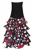 La Senorita Flamenco Rock für Damen mit Punkten und Volants - Größe 42