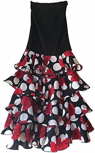 La Senorita Flamenco Rock für Damen mit Punkten und Volants