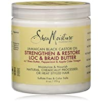 Shea Moisture Jamaican Black Castor Strengthen & Grow Loc & Braid Butter Hair Treatment, 6 oz