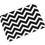 eureya Entrance Mat Schwarz und Weiß Chevron Stripe rutschfest Badezimmer Wohnzimmer Küche Bereich Teppiche Fußmatten Fußmatte für Innenbereich/Außenbereich 40x 60cm