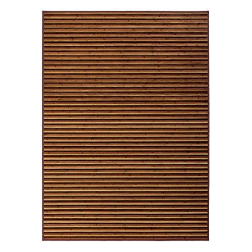 Alfombra de salón árabe marrón de bambú de 180 x 250 cm Arabia - L