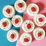 SANHOC 10 Pezzi di ciliegio Torta di Fragole/Dessert/Crema/Miniature Cibo/Carino/Fairy Garden GNOME/Muschio terrario/Bonsai/Bambola casa Arredamento: 10 Pezzi