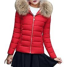 TUDUZ Damen Daunenjacke, Damen Winter Jacke Steppjacke Übergangsjacke mit  Kapuze-7 Farben+Schwarz dfde1a65ec