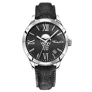 thomas sabo montre de bracelet rebel at heart icon skull quartz analogique cuir wa0210 218 203. Black Bedroom Furniture Sets. Home Design Ideas