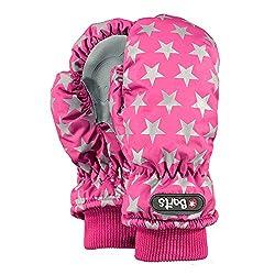 Barts Mädchen Handschuhe Nylon Mitts, Fuchsia (mit Sternen), Größe: 1 (1 -2 Jahre)