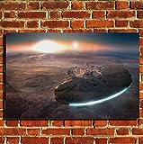 Box Prints Millenium Falcon Star Wars Film Leinwand Wand Kunstdruck Bild groß klein