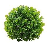 SWQ - Palla topiaria a forma di foglia, resistente ai raggi UV, in legno di bosso verde, diametro 10 cm