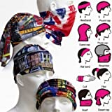 #8: Okayji Multi functional Stylish Unisex Bandana (Multicolour)