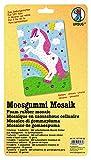 Ursus 8770022F - Moosgummi Mosaik, Einhorn, ca. 23 x 16 cm