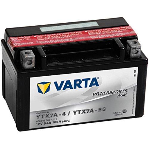 Varta 506015005 Powersports AGM Batteria moto 12V 6Ah 105A, 1 pezzo