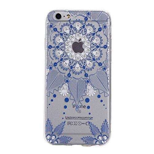 ZXLZKQ pour iPhone 5 / 5S / SE Etui Rose Bleu Haute Qualite Naturel Marbre Motif Grain Soft Silicone TPU Coque Protecteur Case pour Apple iPhone 5 / 5S / SE(non applicable iPhone 5C) Bleu Fleur