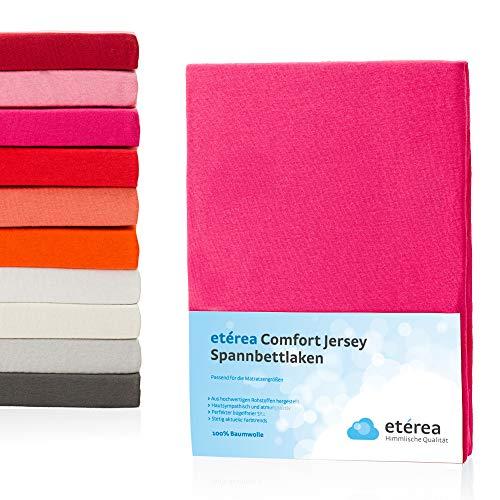 #2 Etérea Kinder Jersey Spannbettlaken, Spannbetttuch, Bettlaken, 60×120 – 70×140 cm, Pink - 2