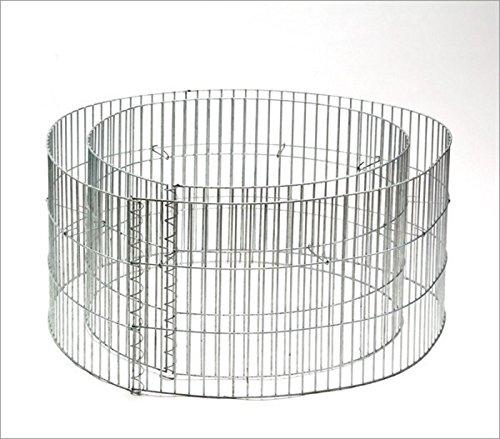 Ganzjähriges Metallhochbeet, runde Gabione, Durchmesser x Höhe außen: 90 x 40 cm, Fi_14908