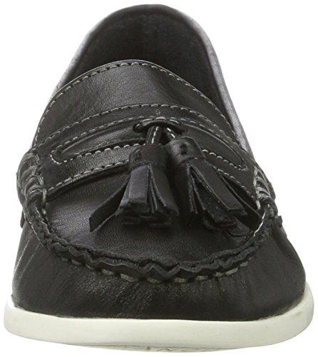 Bianco Damen Tassel Sailor Loafer 25-49248 Mokassin Schwarz (Black)