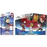 Disney Infinity 2.0: Marvels Avengers Playset: Iron Man + Black Widow w/ Captain America - Figure Set NEW