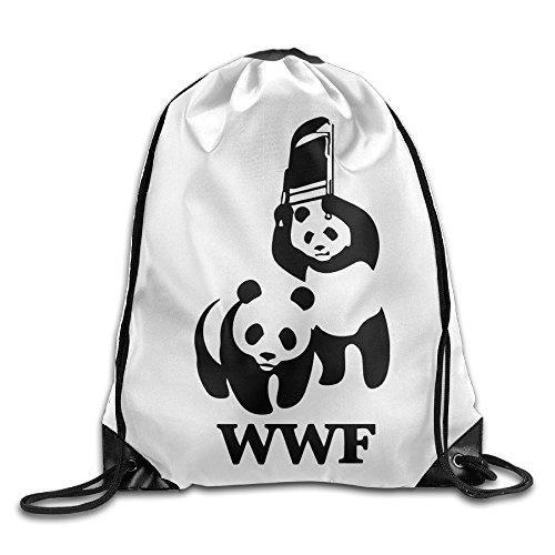 canace-panda-wwf-sports-dexterieur-avec-cordon-sacs-sac-a-dos-blanc-taille-unique