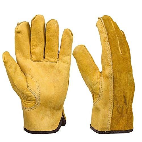 1Pair Working Rindslederhandschuhe Gartenarbeitssicherheit Sicherheitsschutz Mechanik Industrial Farm Garden Ranch Handschuhe, M