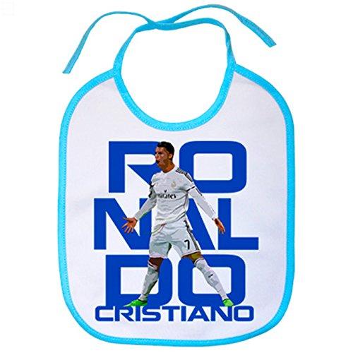 Babero Cristiano Ronaldo Siuu caricatura - Celeste