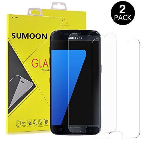 Galaxy S7Displayschutzfolie, [2Pack] sumoon Glas Displayschutzfolie [gehärtetem Glas] 9H Härte, Bubble Free [Case Freundlicher], 2er-Set -
