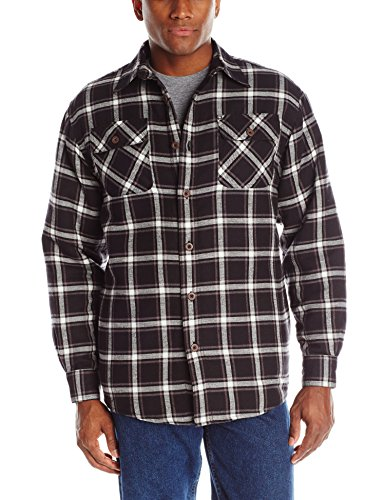 Wrangler Authentics Men's Long Sleeve Quilted Lined Flannel Shirt