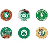 """Offizielle NBA """"Boston Celtics"""" Button, Anstecker, Pins als 6er Set"""