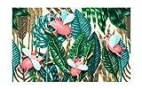 LONGYUCHEN Mural Personalizado Personalizado Frondoso Hoja De Palma De Hoja Ancha Pared De Fondo 3D Adecuado Para La Decoración Del Hogar 100Cm(H)×190Cm(W)