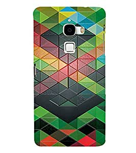 PrintVisa Geometrical Pattern 3D Hard Polycarbonate Designer Back Case Cover for LeEco Le Max