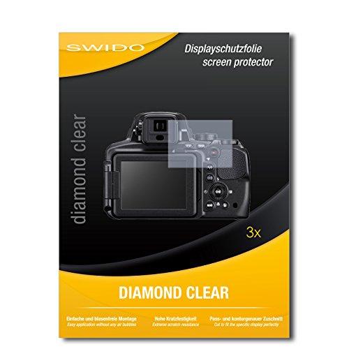 3 x SWIDO Diamond Clear Pellicola protettiva per Nikon Coolpix P900 / P-900 - Protezione cristallina e resistente per il display! QUALITA' PREMIUM - Made in Germany