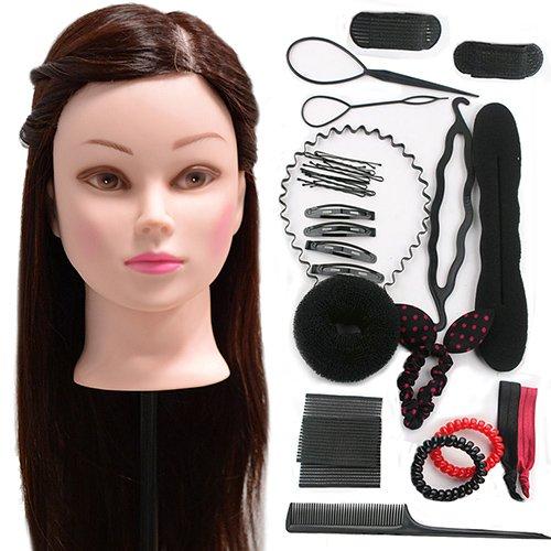 Neverland 22 pouces 30% reel Formation Cheveux Tete Coiffure Mannequin Head + Braid Set