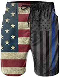 bei amerikanischen dünne blaue linie flagge sommer atmungsaktive badehose  strand shorts board shorts 56aec4fe18