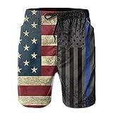 bei amerikanischen dünne Blaue Linie Flagge Sommer atmungsaktive Badehose Strand Shorts Board Shorts