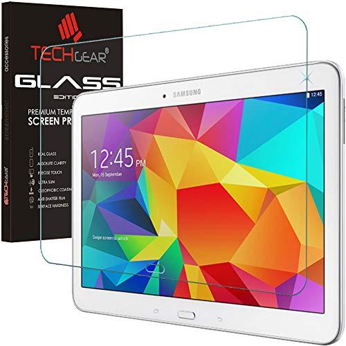 TECHGEAR Vetro Temperato Compatibile con Galaxy Tab 4 10.1' (SM-T530) - Autentica Pellicola Protecttiva in Vetro Temperato per Il Samsung Galaxy Tab 4 10.1 Pollici