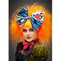Magic Box Peluca y Arco de Sombrerero Loco de Naranja neón para Mujer