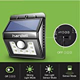 #10: Hardoll 8 LED Super Bright Solar Light Motion Sensor Wall Light 2200mAh Weatherproof Wireless Security Outdoor Light with Motion Activated ON/OFF for Step, Garden, Yard, Deck