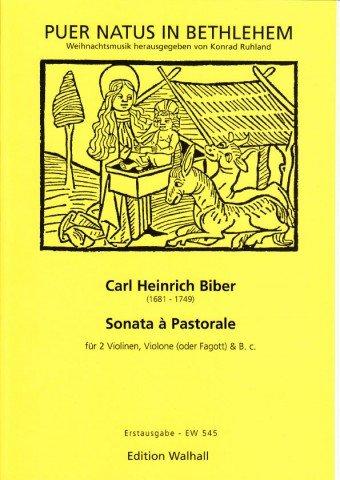 Sonata à Pastorale für 2 Violinen, Violone (Fagott) und B.C. Erstausgabe (Partitur und Stimmen)